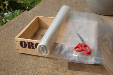 Plastic roll from Bunning, cut larger than the box