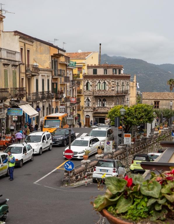 At the start of the main street (Corso Umberto)